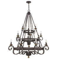 Quoizel NBE5018RK Noble 18 Light 48 inch Rustic Black Chandelier Ceiling Light