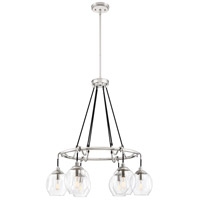 Quoizel NGA5006PK Nostalgia 6 Light 28 inch Polished Nickel Chandelier Ceiling Light