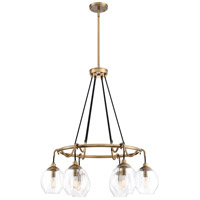 Quoizel NGA5006WS Nostalgia 6 Light 28 inch Weathered Brass Chandelier Ceiling Light