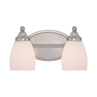 North Gate 2 Light 12 inch Brushed Nickel Bath Light Wall Light