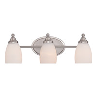 North Gate 3 Light 20 inch Brushed Nickel Bath Light Wall Light