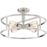 New Harbor 4 Light 18 inch Brushed Nickel Semi-Flush Mount Ceiling Light