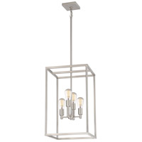 New Harbor 4 Light 14 inch Brushed Nickel Foyer Piece Ceiling Light
