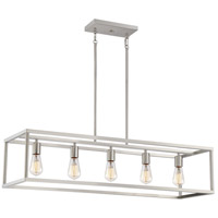Quoizel NHR538BN New Harbor 5 Light 38 inch Brushed Nickel Island Chandelier Ceiling Light
