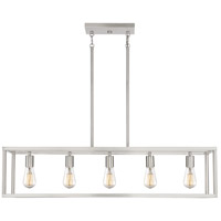 Quoizel NHR538BN New Harbor 5 Light 38 inch Brushed Nickel Island Chandelier Ceiling Light  alternative photo thumbnail