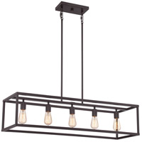 Quoizel NHR538WT New Harbor 5 Light 38 inch Western Bronze Island Chandelier Ceiling Light