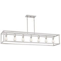New Harbor 7 Light 52 inch Brushed Nickel Island Chandelier Ceiling Light
