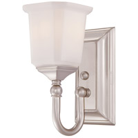 Quoizel Lighting Nicholas 1 Light Bath Vanity in Brushed Nickel NL8601BN