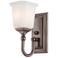 Nicholas 1 Light 7 inch Harbor Bronze Bath Light Wall Light
