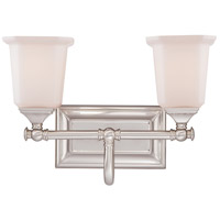 Quoizel Nicholas 2 Light Bath Light in Brushed Nickel NL8602BN
