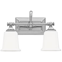 Quoizel Lighting Nicholas 2 Light Bath Light in Polished Chrome NL8602C