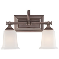 Nicholas 2 Light 15 inch Harbor Bronze Bath Light Wall Light