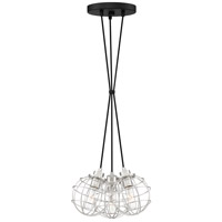 Quoizel NVG2603EK Navigator 3 Light 14 inch Earth Black Pendant Ceiling Light