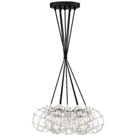 Navigator 7 Light 22 inch Earth Black Pendant Ceiling Light