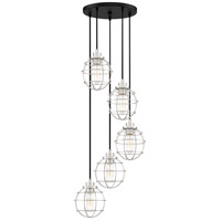 Navigator 5 Light 17 inch Earth Black Pendant Ceiling Light