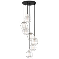 Quoizel NVG2707EK Navigator 7 Light 18 inch Earth Black Pendant Ceiling Light