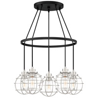 Quoizel NVG5005EK Navigator 5 Light 25 inch Earth Black Chandelier Ceiling Light