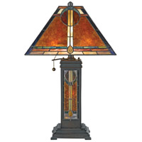 Quoizel NX615TVA Museum of New Mexico 24 inch 60 watt Valiant Bronze Table Lamp Portable Light