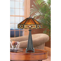 Quoizel Lighting Museum of New Mexico 2 Light Table Lamp in Vintage Bronze NX627TVB photo thumbnail