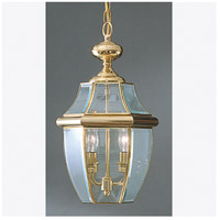 Quoizel Lighting Newbury 2 Light Outdoor Hanging Lantern in Polished Brass NY1178B