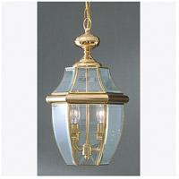 Quoizel Lighting Newbury 2 Light Outdoor Hanging Lantern in Polished Brass NY1178B photo thumbnail