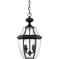 Quoizel Lighting Newbury 2 Light Outdoor Hanging Lantern in Mystic Black NY1178K