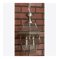 Newbury 2 Light 10 inch Pewter Outdoor Hanging Lantern