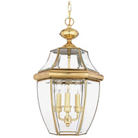 Quoizel Lighting Newbury 3 Light Outdoor Hanging Lantern in Polished Brass NY1179B