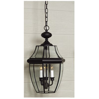 Quoizel Lighting Newbury 3 Light Outdoor Hanging Lantern in Mystic Black NY1179K