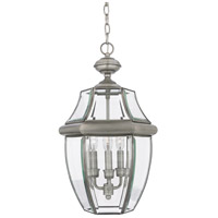 Quoizel Lighting Newbury 3 Light Outdoor Hanging Lantern in Pewter NY1179P