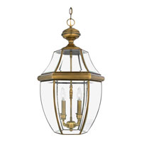 Quoizel NY1180A Newbury 4 Light 16 inch Antique Brass Outdoor Hanging Lantern alternative photo thumbnail