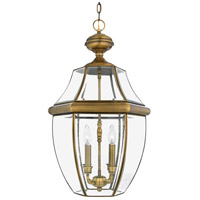 Quoizel Lighting Newbury 4 Light Outdoor Hanging Lantern in Antique Brass NY1180A