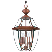 Quoizel Lighting Newbury 4 Light Outdoor Hanging Lantern in Aged Copper NY1180AC