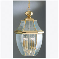 Quoizel Lighting Newbury 4 Light Outdoor Hanging Lantern in Polished Brass NY1180B