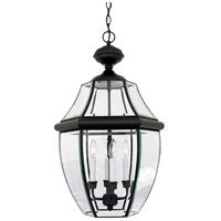 Quoizel Lighting Newbury 4 Light Outdoor Hanging Lantern in Mystic Black NY1180K