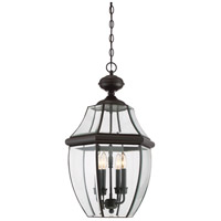 Quoizel Lighting Newbury 4 Light Outdoor Hanging Lantern in Medici Bronze NY1180Z