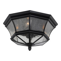 Newbury 3 Light 15 inch Mystic Black Outdoor Flush Mount
