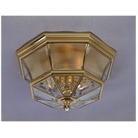 Newbury 3 Light 15 inch Polished Brass Outdoor Semi-Flush Mount