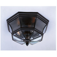 Newbury 3 Light 15 inch Mystic Black Outdoor Semi-Flush Mount