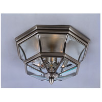 Newbury 3 Light 15 inch Pewter Outdoor Semi-Flush Mount