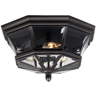 Quoizel Lighting Newbury 3 Light Outdoor   Flush Mount in Medici Bronze NY1794Z
