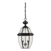 Quoizel Newbury 2 Light Outdoor Hanging Lantern in Mystic Black NY1909K