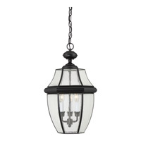 Quoizel Newbury 3 Light Outdoor Hanging Lantern in Mystic Black NY1912K