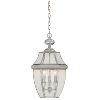 Newbury 3 Light 13 inch Pewter Outdoor Hanging Lantern