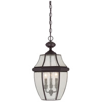 Newbury 3 Light 13 inch Medici Bronze Outdoor Hanging Lantern
