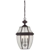 Quoizel NY1912Z Newbury 3 Light 13 inch Medici Bronze Outdoor Hanging Lantern