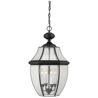 Quoizel Newbury 4 Light Outdoor Hanging Lantern in Mystic Black NY1916K