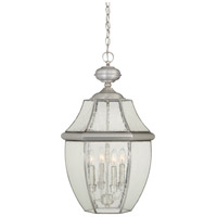 Quoizel Newbury 4 Light Outdoor Hanging Lantern in Pewter NY1916P