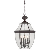 Quoizel Newbury 4 Light Outdoor Hanging Lantern in Medici Bronze NY1916Z