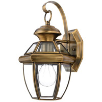 Quoizel Lighting Newbury 1 Light Outdoor Wall Lantern in Antique Brass NY8315A